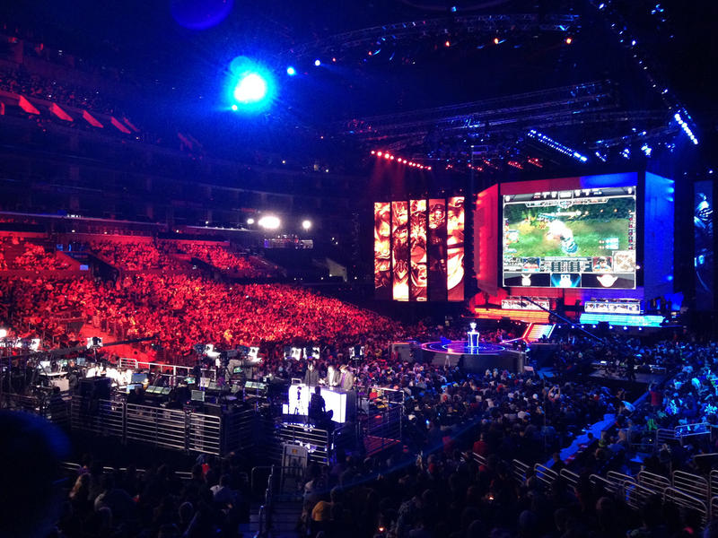 The League of Legends World Championship in 2012. In 2014, the World Championship attracted 27 million viewers.