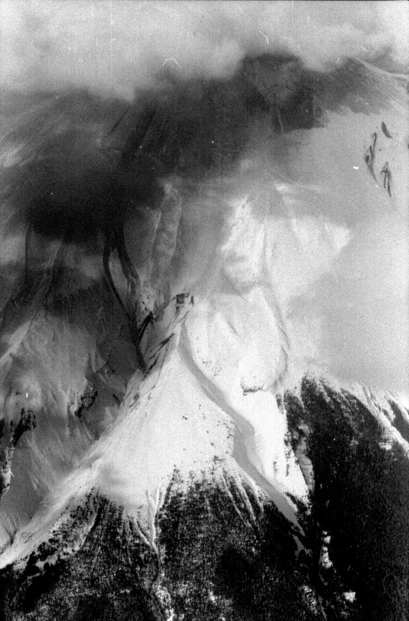 Reid Blackburn took this photo of Mount St. Helens in April 1980, before the mountain erupted. The roll of photos was developed last year by The Columbian newspaper.