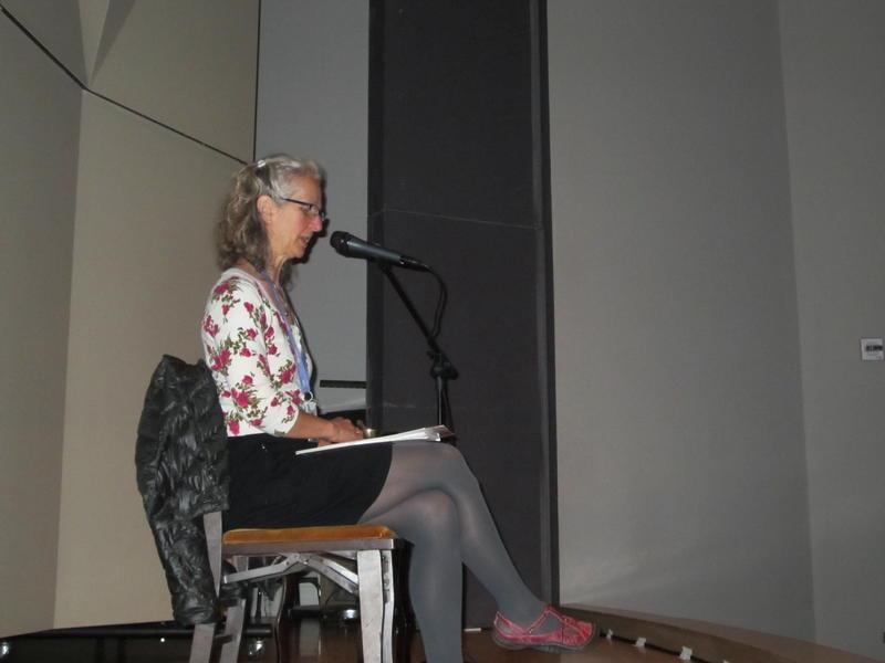 Diane Hetrick leads meditators at Frye Art Museum