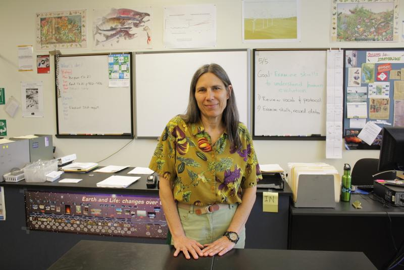 Cindy Jatul teaches biology/biotech at Roosevelt High School in Seattle. She says her first-period students are often too sleepy to learn.