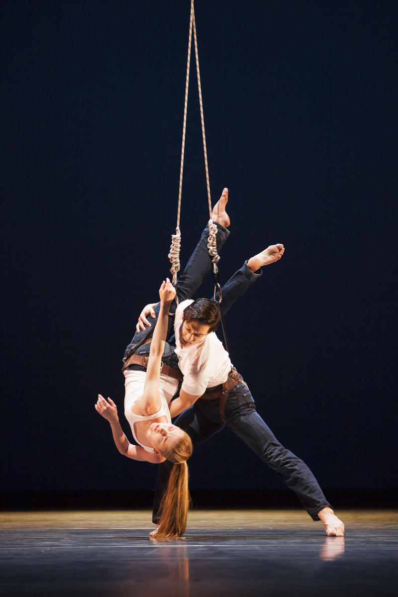 Pacific Northwest Ballet principal dancers Carla Korbes and James Moore in Susan Marshall's