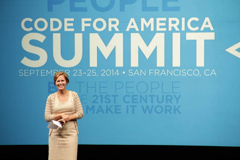Jennifer Pahlka at the 2014 Code For America Summit