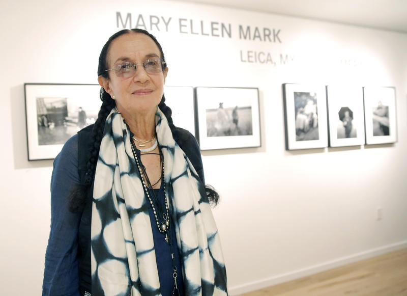 In this June 20, 2013, file photo provided by Leica, photographer Mary Ellen Mark attends the Leica Los Angeles Grand Opening in Los Angeles.