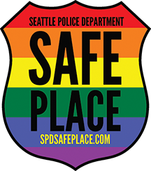 "The Seattle Police Department's ""Safe Place"" decal."