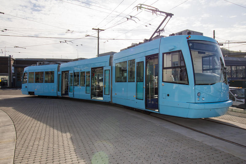 First Hill Streetcar on display in March, 2015.
