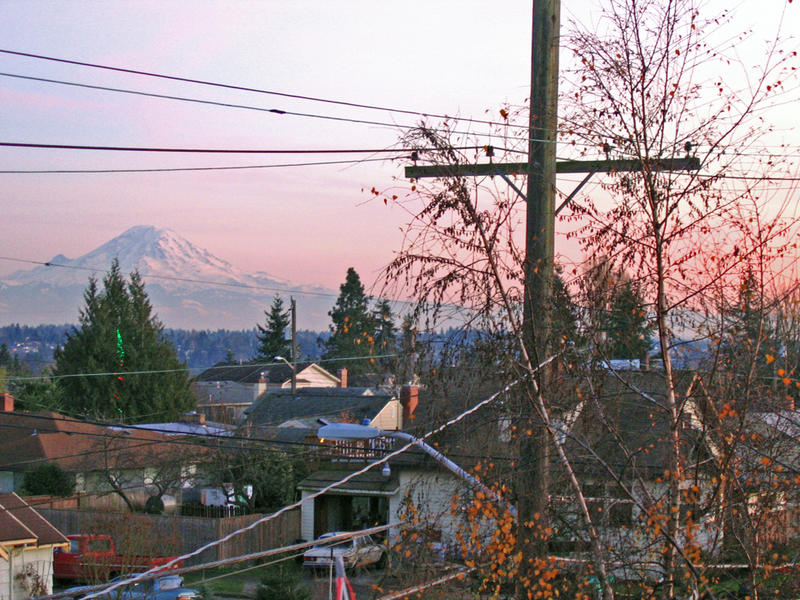 A view of Mount Rainier from West Seattle, Seattle's new District 1.