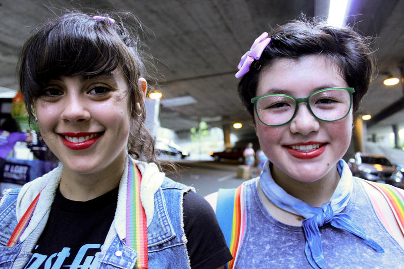 Gabby Turner, 19, and Eva Rozelle, 16, said they haven't experienced homophobia growing up in Seattle. In fact, they said coming out wasn't really necessary for their generation.