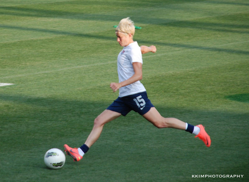 Megan Rapinoe is seen in action in 2012.