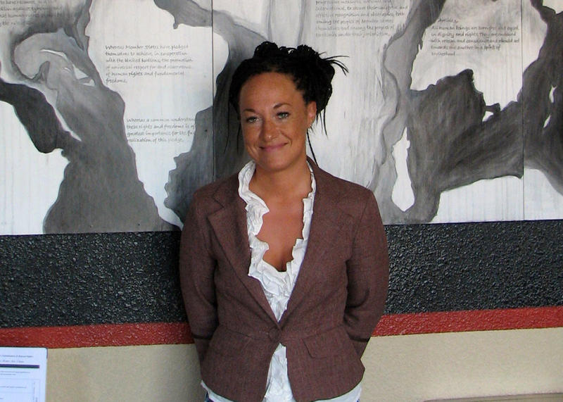 Rachel Dolezal is shown in a file photo from July 24, 2009, when she was with the Human Rights Education Institute in Coeur d'Alene, Idaho.