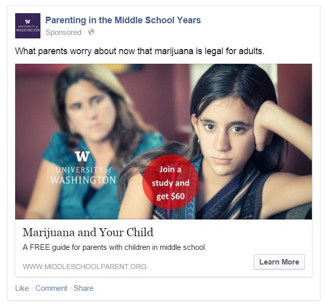 Researchers say this ad targeting fears about marijuana use drew a high response.