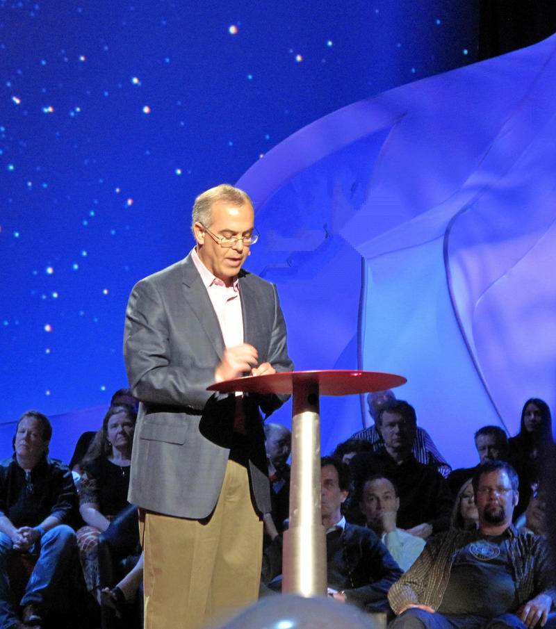 David Brooks at the 2011 TED Conference in Long Beach, California.