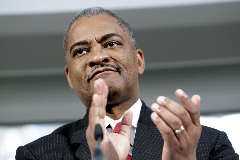 Washington State University president Elson Floyd at a fund-raising campaign kick-off for the school Dec. 2, 2010, in Seattle. Floyd served as WSU president until his death on June 20, 2015.