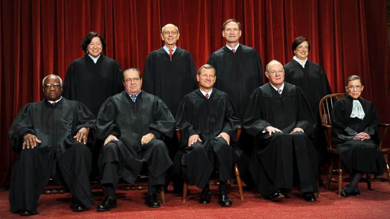 The Supreme Court ruled 5-4 on Friday that same-sex marriage was legal across the United States. The four opposing justices submitted individual dissents.