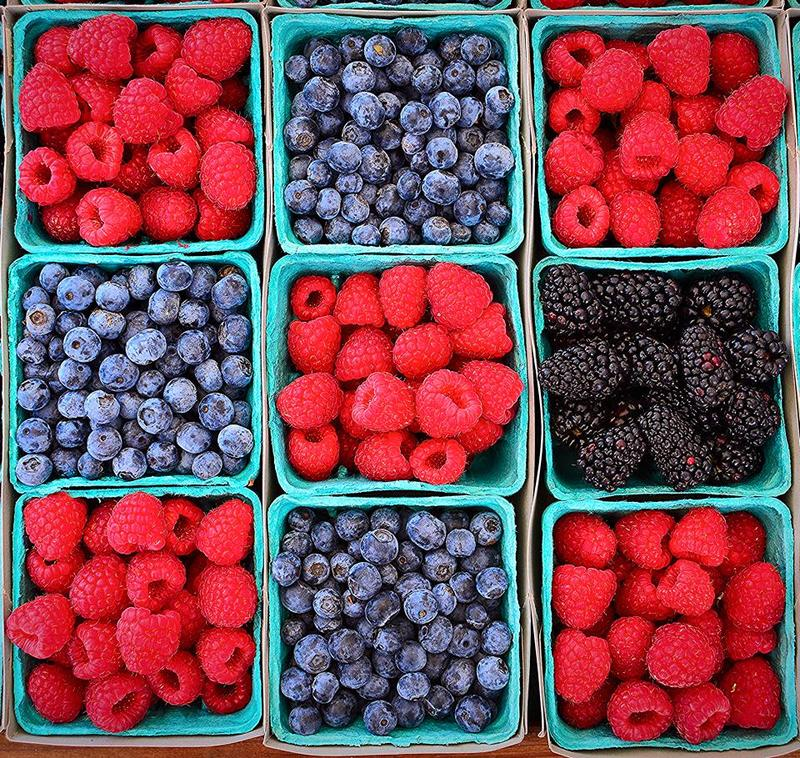 Summer time is berry time at the farmers market.