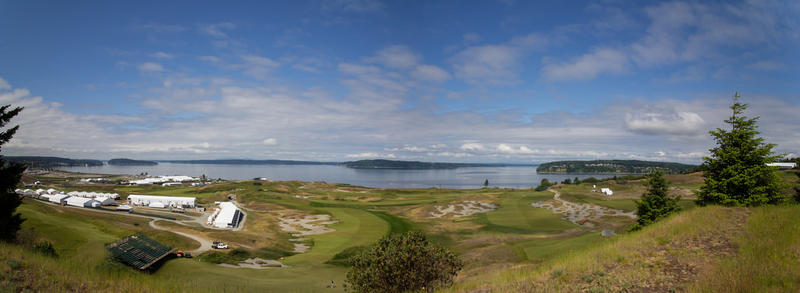 Chambers Bay golf course in Tacoma, Washington.