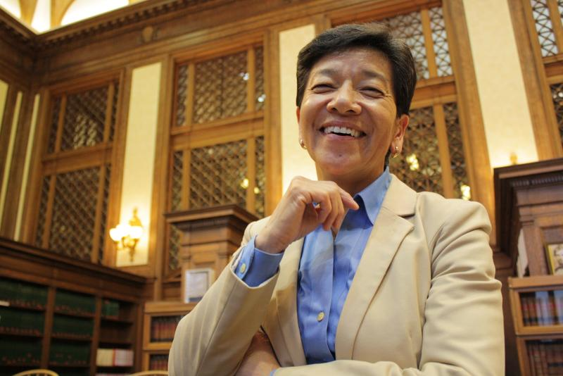 Justice Mary Yu, at the Washington State Supreme Court's Temple of Justice.