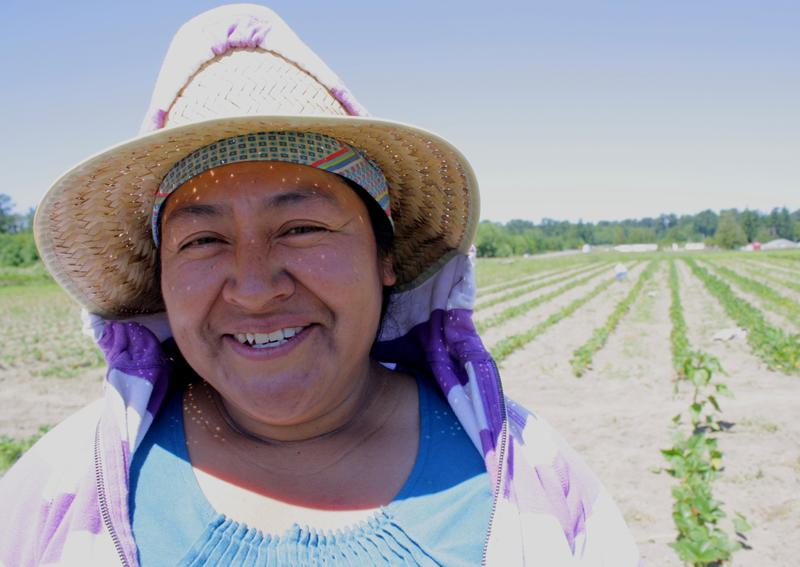 Nelida Martinez, one of the farmers growing their businesses at Viva Farms, a farm incubator project