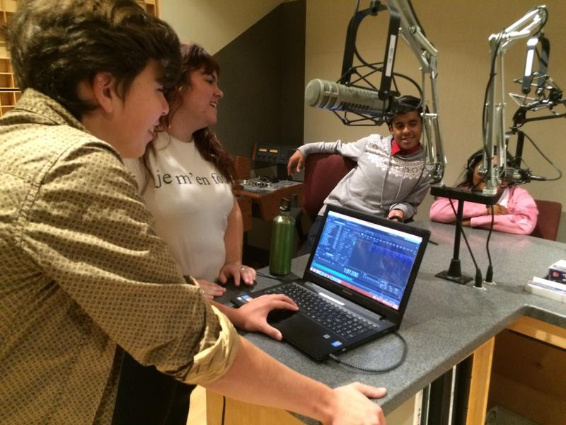 "Recording the ""Guess That Sound"" game in the KUOW studios"