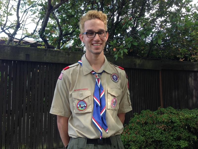 Eagle Scout Liam Easton-Calabria from Ballard, Seattle: 'it just made me pretty upset to learn that I wouldn't be able to do what my dad was doing.'