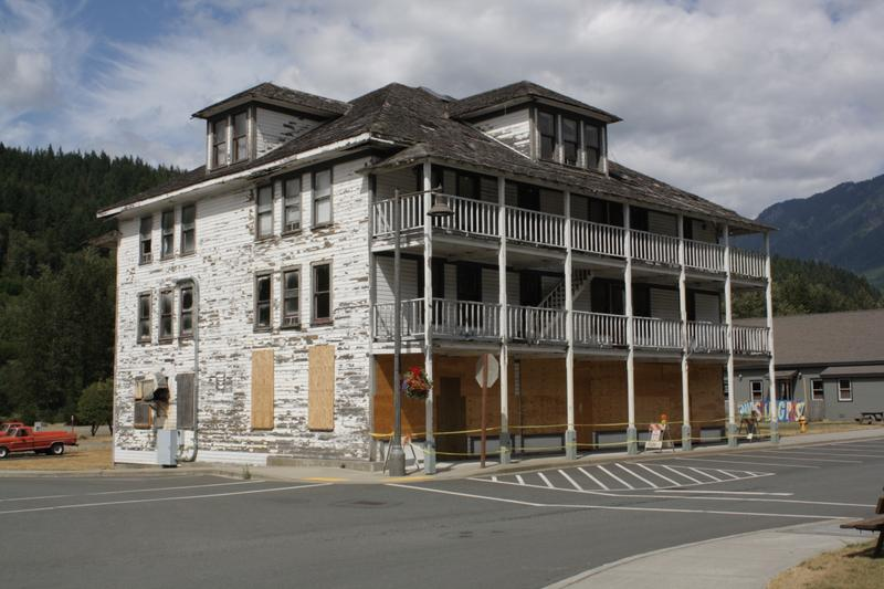 Skykomish used to have a lot of jobs. It's been hard to bring them back. Several entrepreneurs had big dreams for this old hotel, but have failed to make them happen.