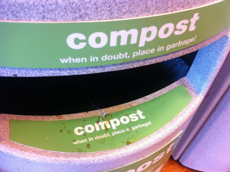 Compost trash