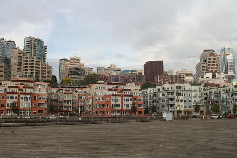 Housing: Condos along Seattle's downtown waterfront.