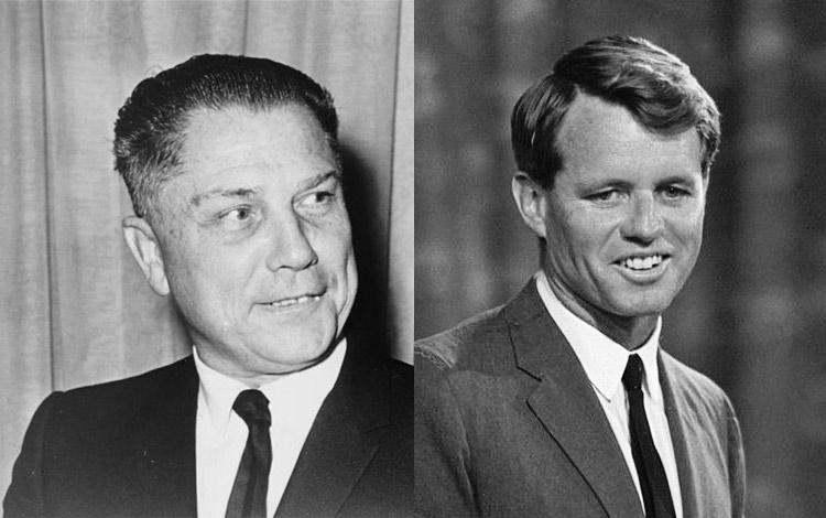 Jimmy Hoff and Robert 'Bobby' Kennedy.