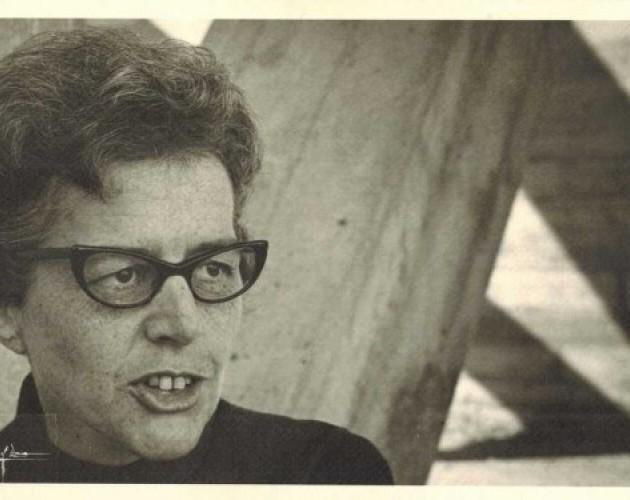Madeline DeFrees in 1967. The poet, formerly a nun, would tuck an envelope and pencil into the deep pockets of her habit to write when she had time.