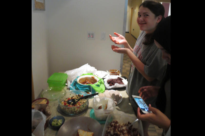 Julia Furukawa enjoying the RadioActive potluck