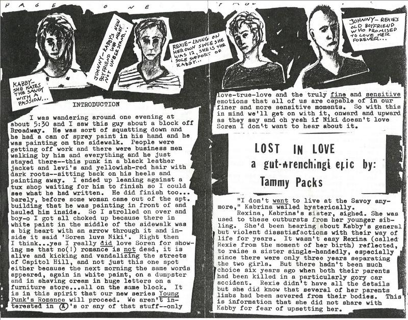 From the punk zine Lost In Love.