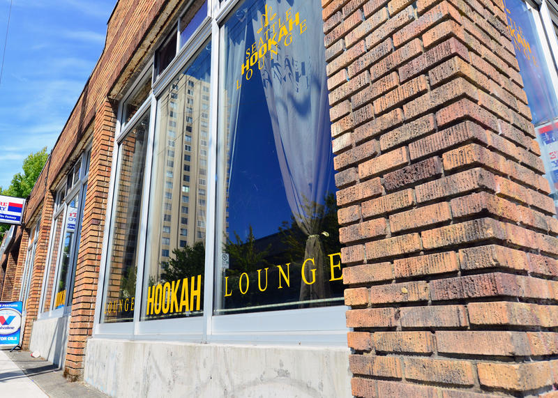 Operators of some hookah lounges in Seattle say the city's crackdown unfairly targets them. This hookah lounge is on Roosevelt Way Northeast in the University District.