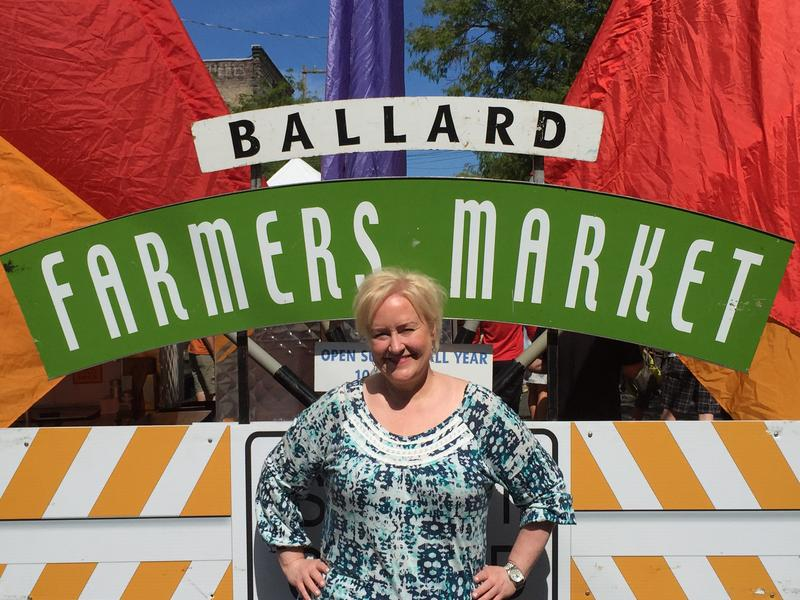 Chef and mixologist Kathy Casey at the Ballard Farmers Market.