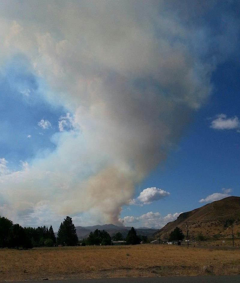Methow Valley News staffer Darla Hussey took this photograph from a location a half-mile south of Twisp.