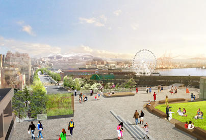 Artist Representation of Seattle Waterfront Project