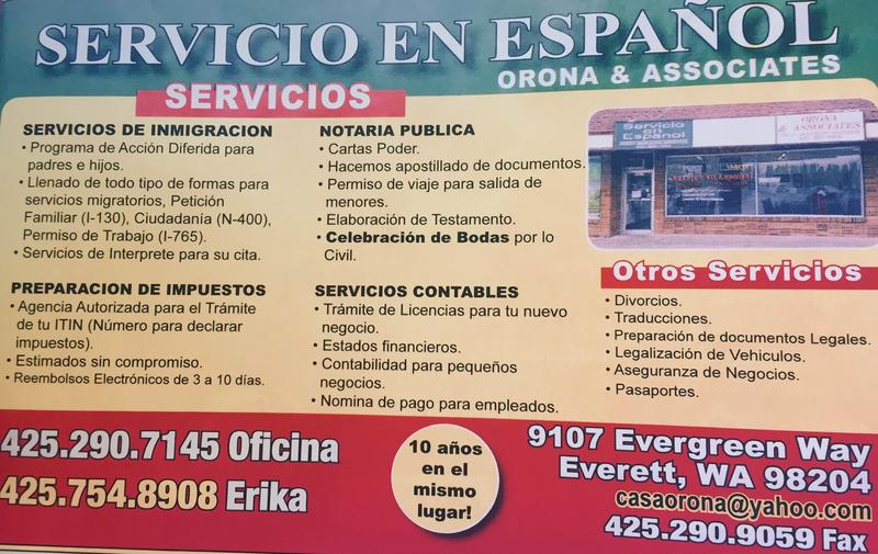 The Washington Attorney General's office has taken action against Orona & Associates in Everett, the business advertised here.  A consent decree assessed $8,000 in civil penalties and $1,500 in costs and fees.