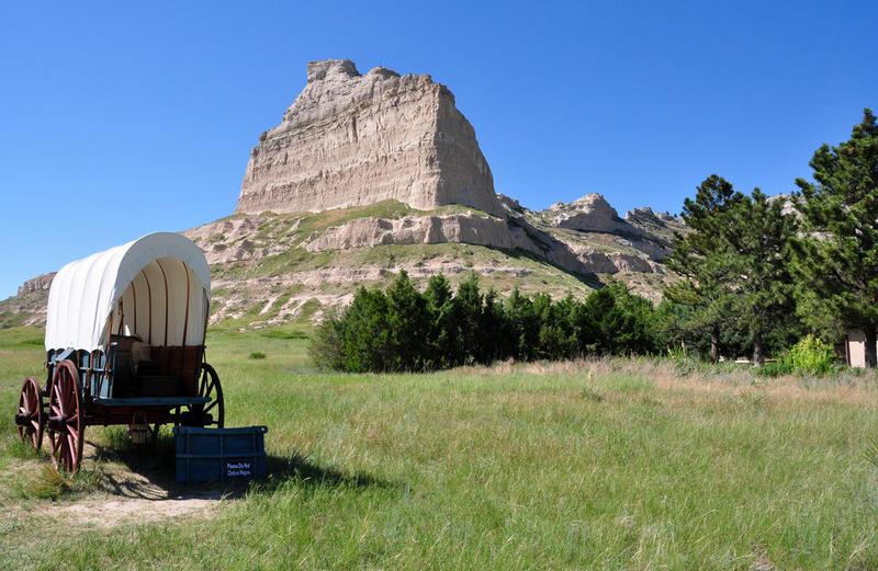 Scotts Bluff National Monument along the Oregon Trail.