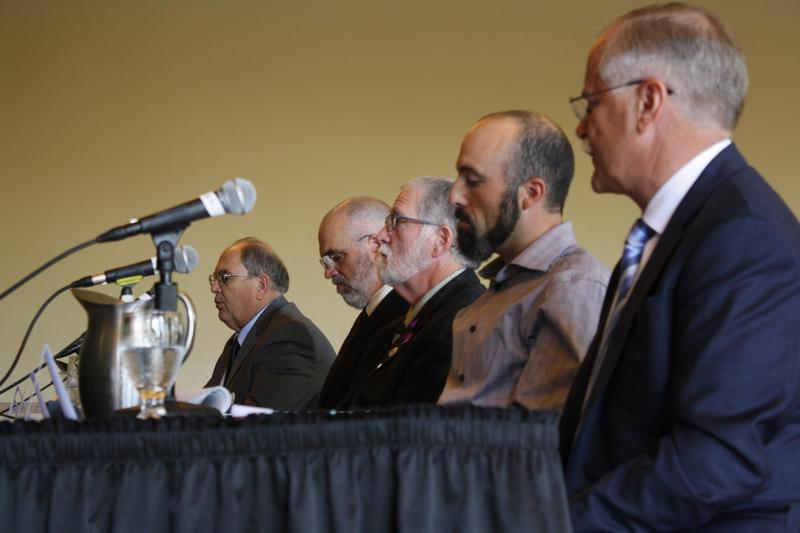 Experts testify before a U.S. Senate hearing on wildfires. The hearing was held at Seattle University.