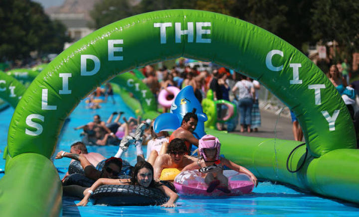 Slide the City had planned events at three places in Washington state but canceled them due to permitting issues.