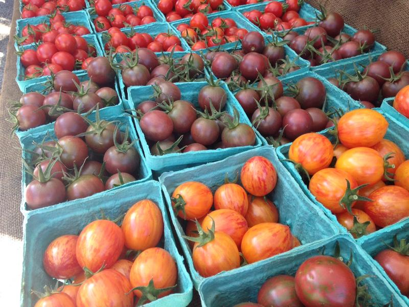 Tomatoes at Queen Anne Farmers Market.