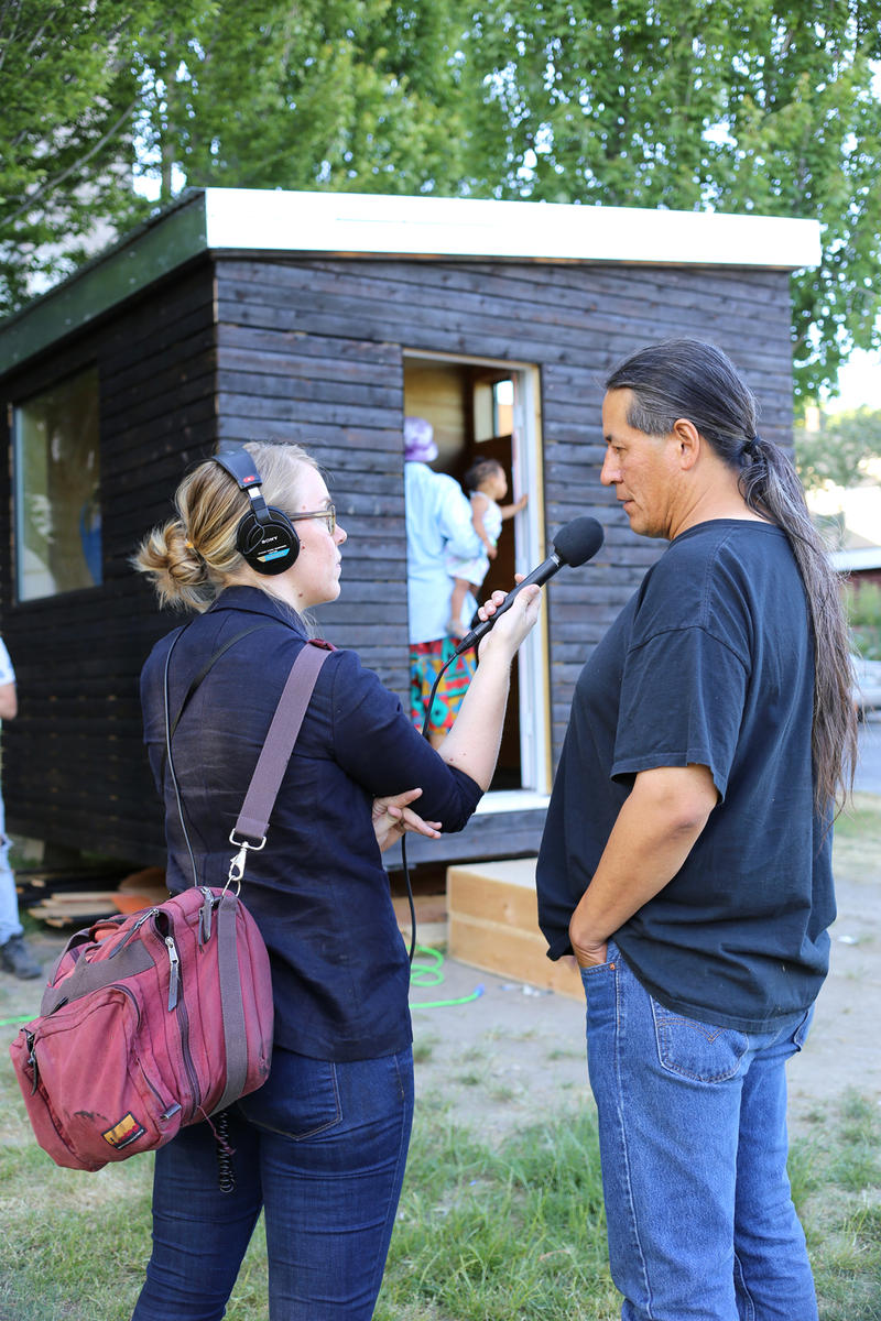 KUOW's Posey Gruener interviews John Hord, a resident of Nickelsville. The homeless camp will soon move back to the Central District, where it used to be located.