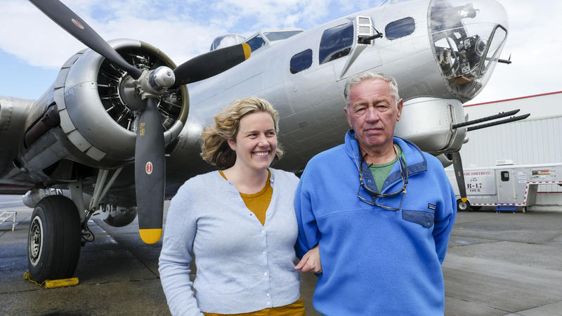 Reporter Ashley Ahearn dug into the Northwest history of the B-17 bomber with her father, Joe Ahearn, Jr.