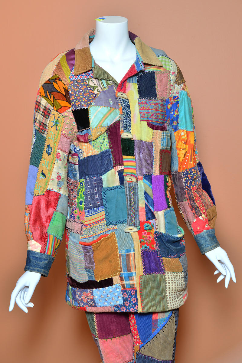 Barbara Ramsey created this patchwork pantsuit in the early 1970s. She called it her