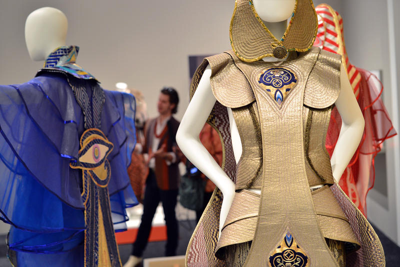 Iconic garments by Kaisik Wong, commissioned by Salvador Dali for the opening of his Spanish museum.