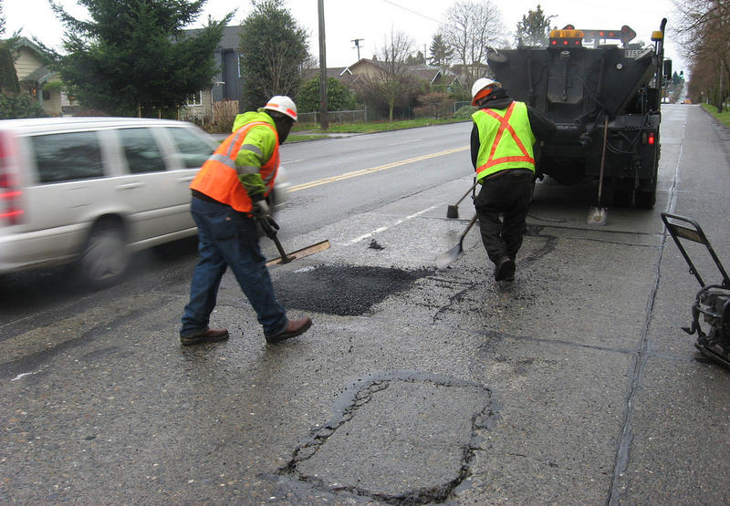 City of Seattle pothole rangers at work in 2011.