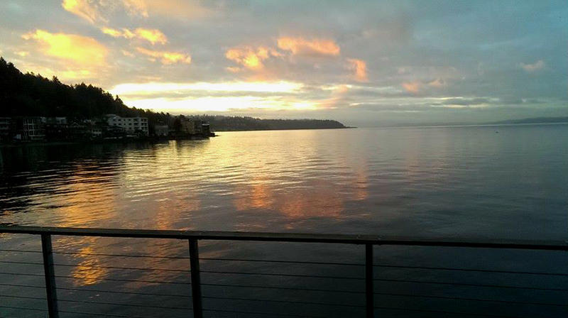 The view from Harbor West condominium in West Seattle.
