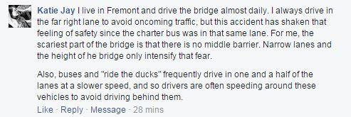 We asked our listeners on Facebook to weigh in on their safety concerns after a fatal crash on the Aurora Bridge.