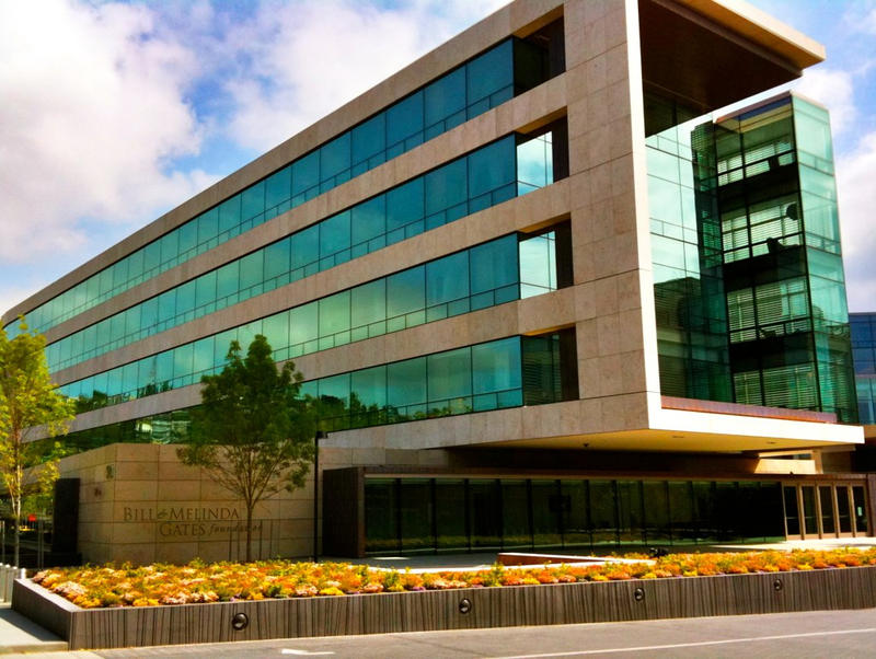 The Gates Foundation's headquarters near Seattle Center.