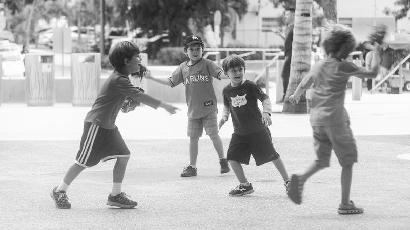 File photo of kids playing tag.