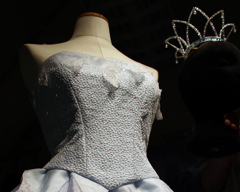 A 'Snowflake' dress waits for the Pacific Northwest Ballet's new version of 'The Nutcracker.'
