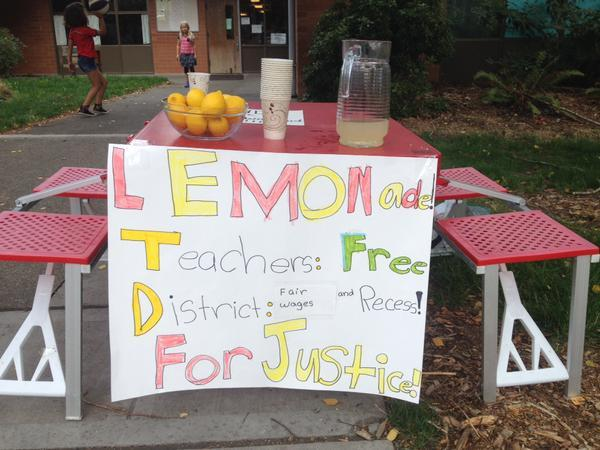 Listener Sarah Johnson posted this picture from Green Lake Elementary with the message, 'We love our teachers.'